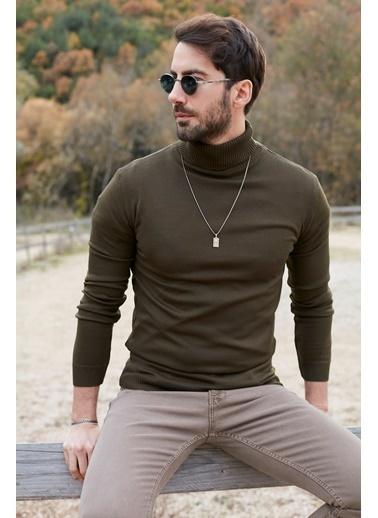 Buratti Buratti Slim Fit Erkek Kazak 549T006 Haki